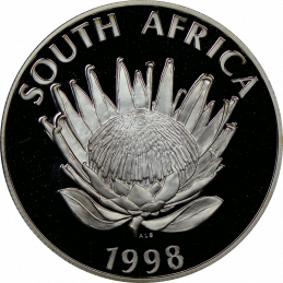 R1, South Africa, Protea 1998, Obverse, Silver - Year of the Child