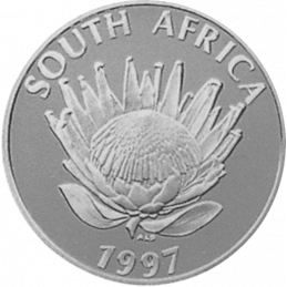 R1, South Africa, Protea 1997, Silver, Obverse - Women of South Africa