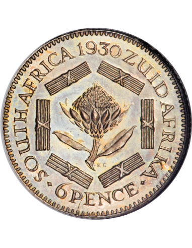 SixPence, South Africa, 1925, Silver, reverse