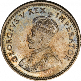 SixPence, South Africa, 1936, Silver, Obverse