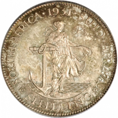 Shilling, South Africa, 1931, Silver, Reverse
