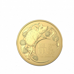 1oz Australian, 2020, Gold - Year of the Rat obverse