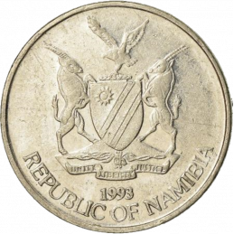 5 Cent, Namibia, 1993 - Obverse