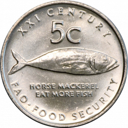 5 Cent, Namibia, 2000 - FAO - Reverse