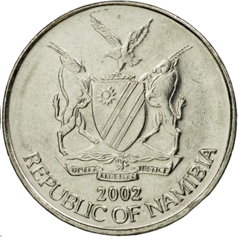 5 Cent, Namibia, 2002 - Obverse