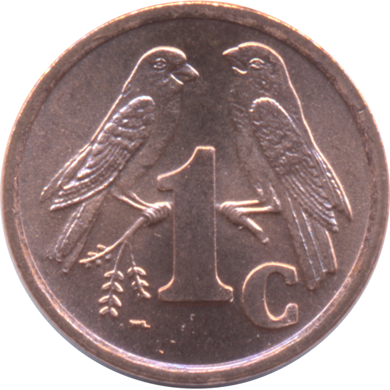 One Cent, South Africa, 2000, Copper plated Steel Reverse