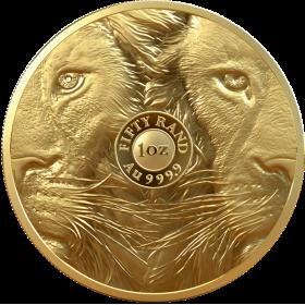 1oz Big Five Lion, South Africa, 2019, Gold - Obverse