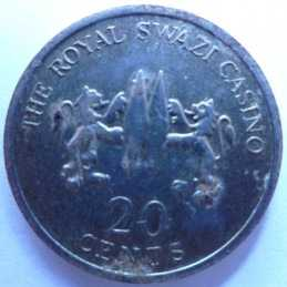 20 Cents, The Royal Swazi Casino, Date Unknown