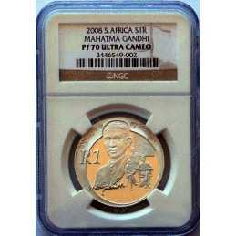 1 Rand, South Africa, Protea 2008, Graded