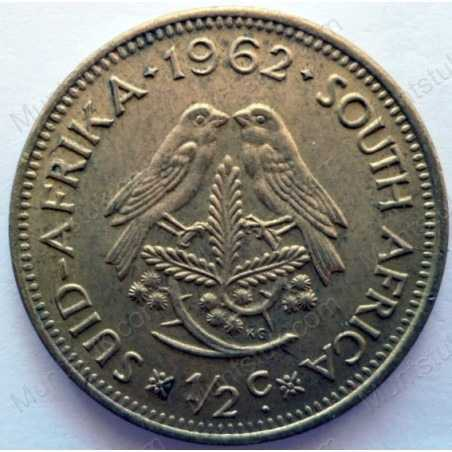 ½ Cent, South Africa, 1962