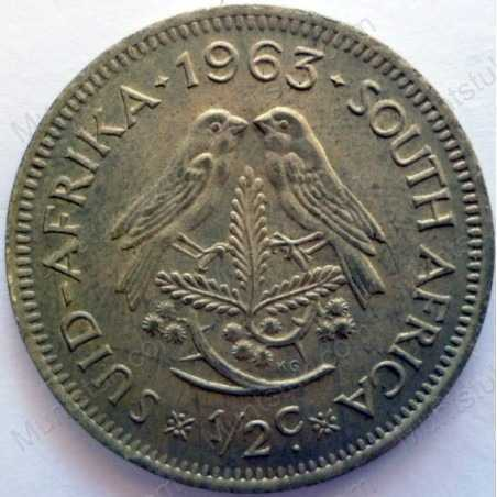 ½ Cent, South Africa, 1963