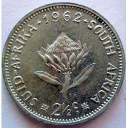Two and a Half cent, South Africa, 1962