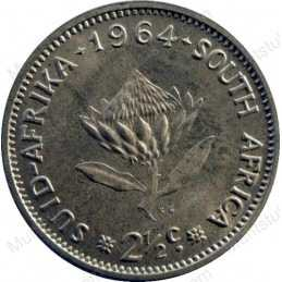 Two and a Half cent, South Africa, 1964