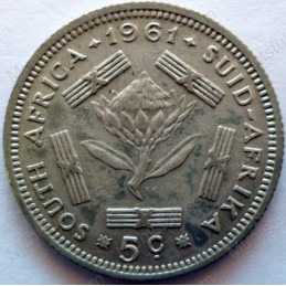 5 Cent, South Africa, 1961