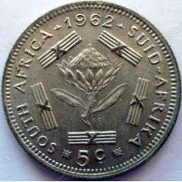 5 Cent, South Africa, 1962