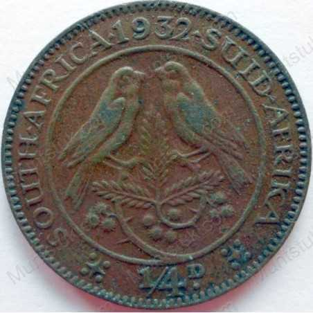 Quarter Penny, South Africa, 1932, Brass