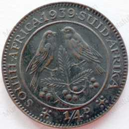 Quarter Penny, South Africa, 1939, Brass