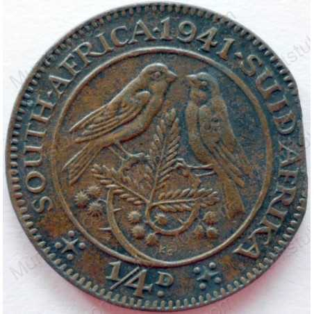 Quarter Penny, South Africa, 1941, Brass