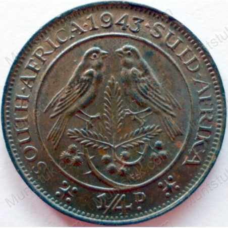 Quarter Penny, South Africa, 1943, Brass