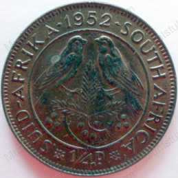 Quarter Penny, South Africa, 1952, Brass