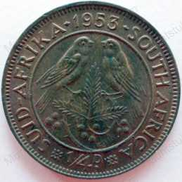 Quarter Penny, South Africa, 1953, Brass
