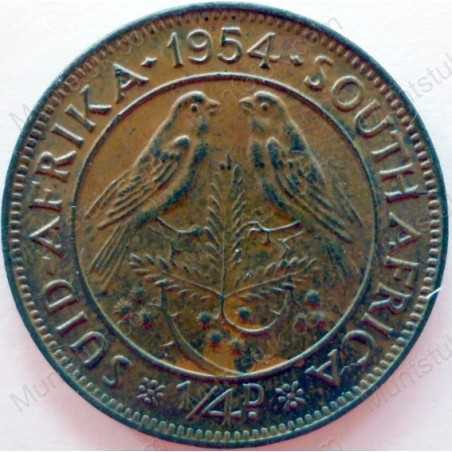 Quarter Penny, South Africa, 1954, Brass