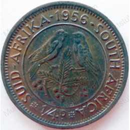 Quarter Penny, South Africa, 1956, Brass