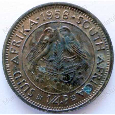 Quarter Penny, South Africa, 1958, Brass