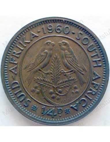 Quarter Penny, South Africa, 1960, Brass