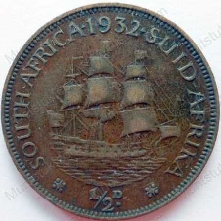 Halfpenny, South Africa, 1932, Brass