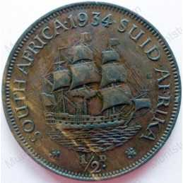 Halfpenny, South Africa, 1934, Brass