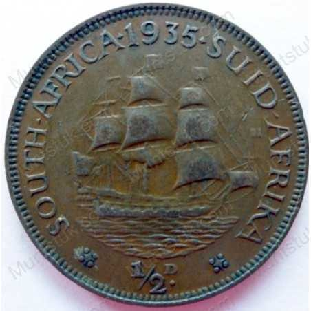Halfpenny, South Africa, 1935, Brass