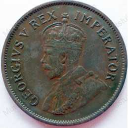 Halfpenny, South Africa, 1936, Brass