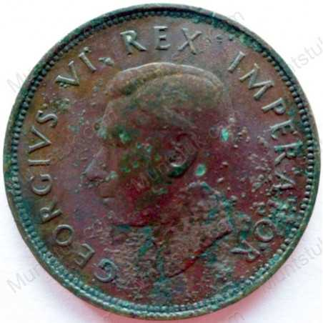 Halfpenny, South Africa, 1937, Brass