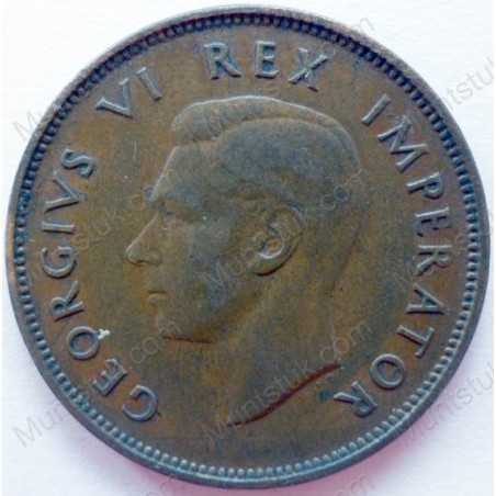 Halfpenny, South Africa, 1938, Brass