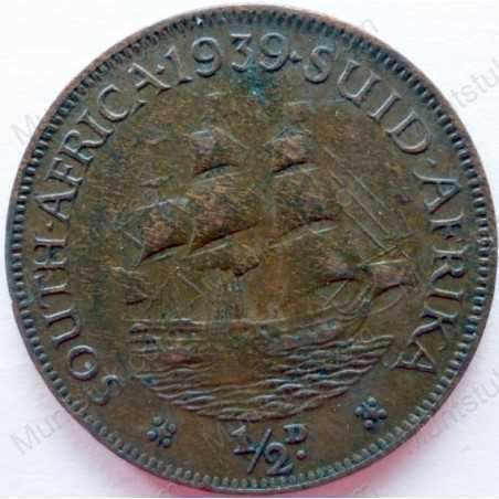 Halfpenny, South Africa, 1939, Brass