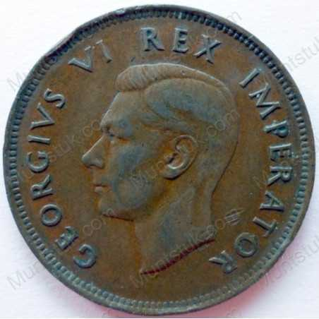 Halfpenny, South Africa, 1940, Brass