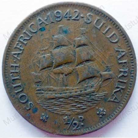 Halfpenny, South Africa, 1942, Brass