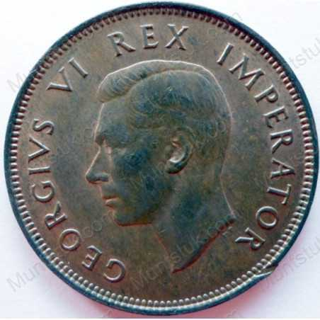 Halfpenny, South Africa, 1943, Brass