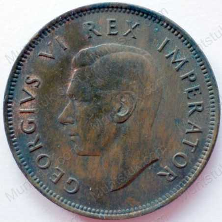 Halfpenny, South Africa, 1944, Brass