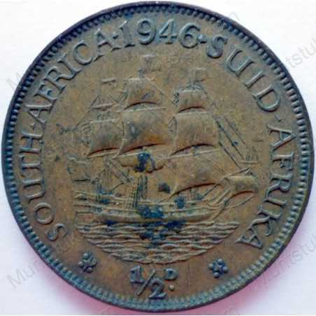 Halfpenny, South Africa, 1946, Brass