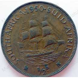 Halfpenny, South Africa, 1950, Brass