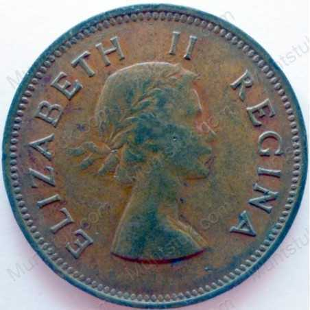 Halfpenny, South Africa, 1954, Brass