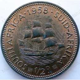 Halfpenny, South Africa, 1958, Brass