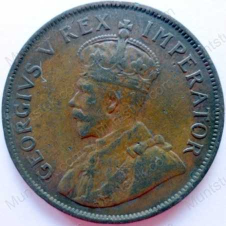 Penny, South Africa, 1930, Brass