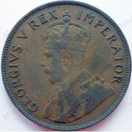 Penny, South Africa, 1932, Brass