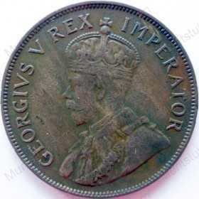 Penny, South Africa, 1936, Brass