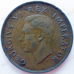Penny, South Africa, 1937, Brass