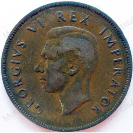 Penny, South Africa, 1941, Brass