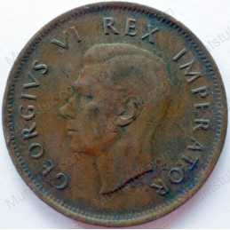 Penny, South Africa, 1942, Brass